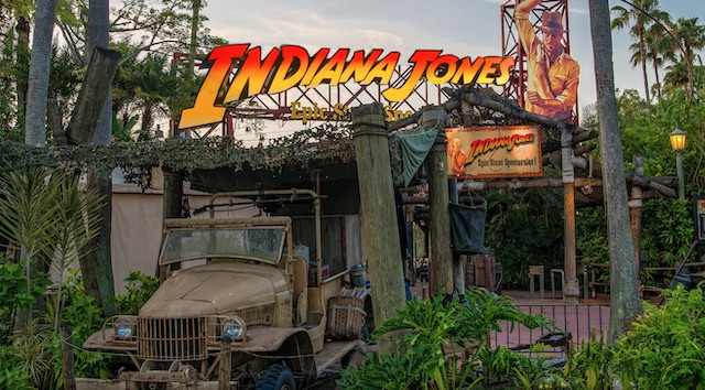 Indiana Jones Epic Stunt Spectacular Theater Used for Mobile Ordering