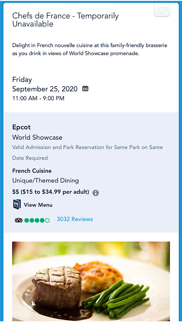 epcot table service restaurant reopening