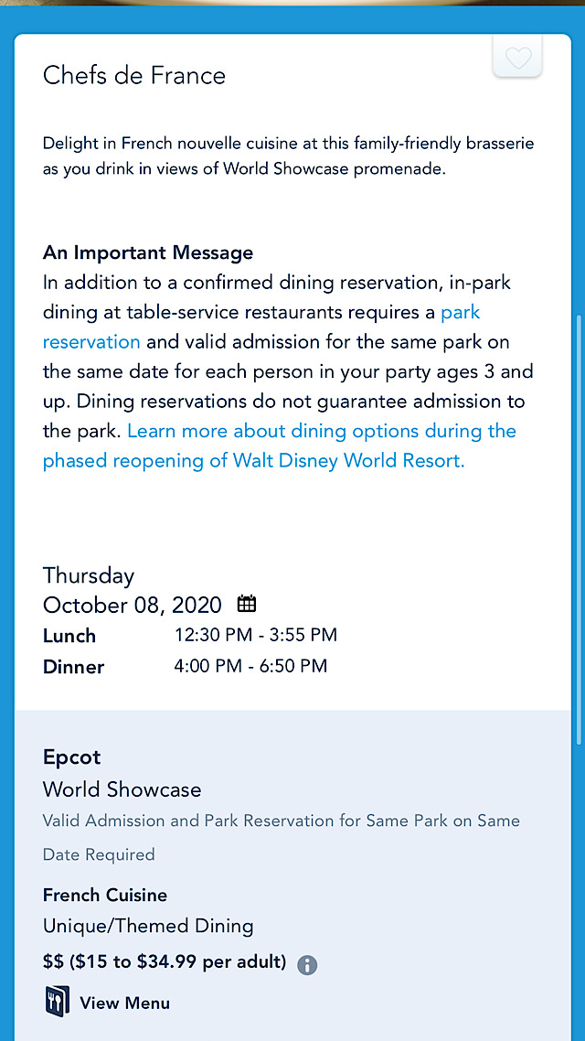 epcot table service re-opening new date