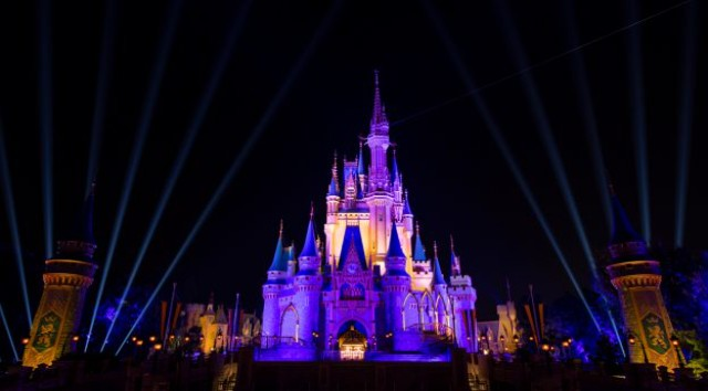 Cinderella Castle was Lit Up for a Special Occasion