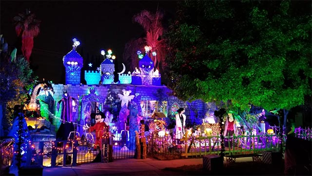 Check out this New Elaborately themed Disney Themed Halloween Display