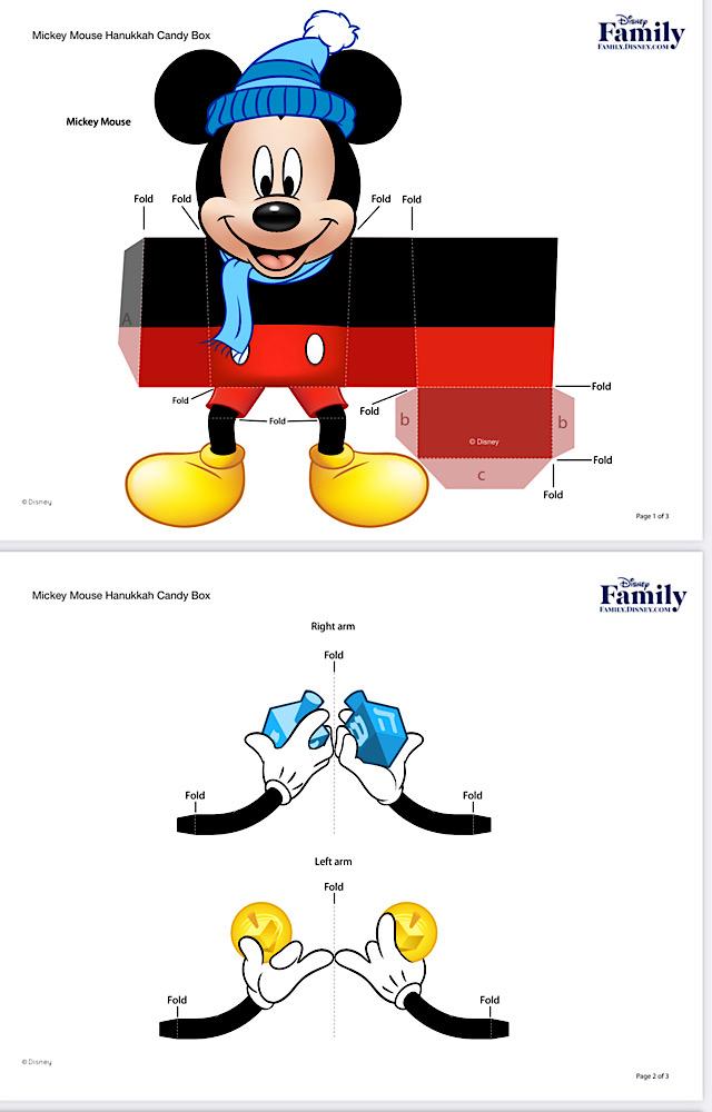 disney hanukkah merchandise activities  candy box