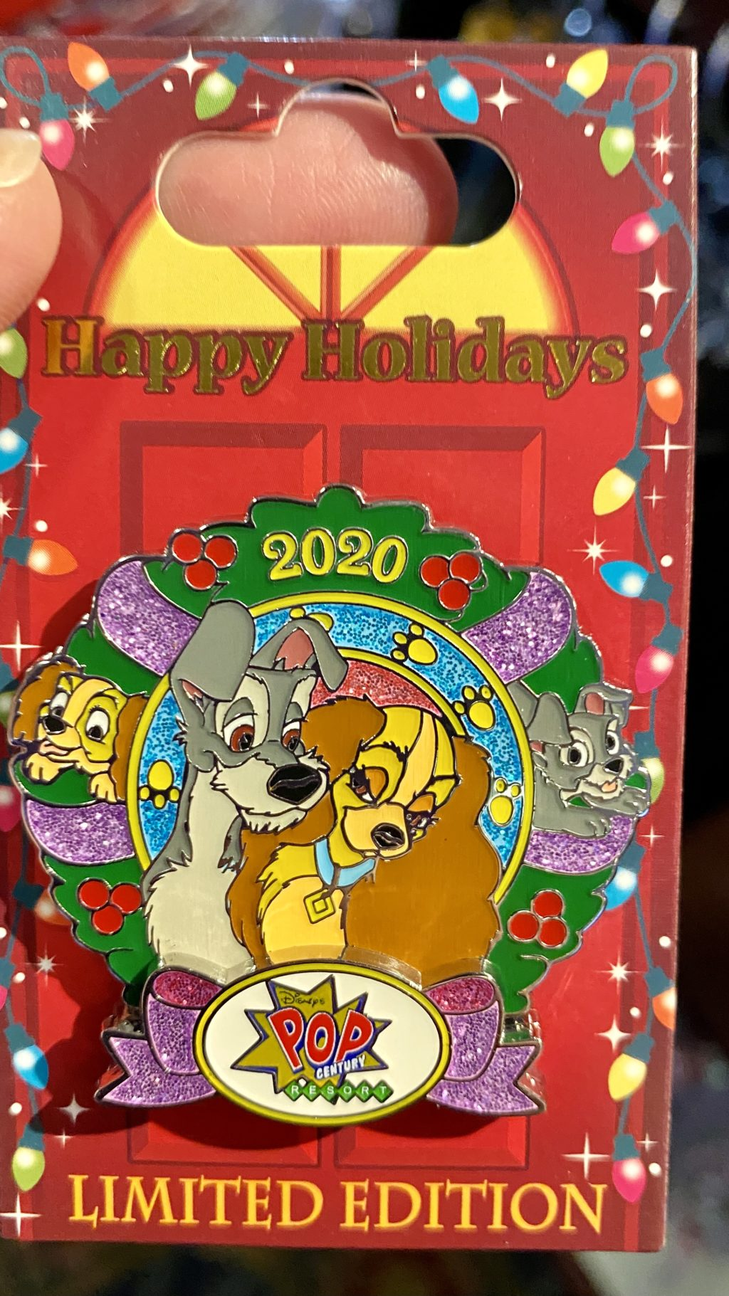 2020 Disney resort holiday pin