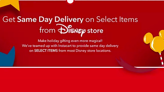New: shopDisney Offers Same-Day Delivery on Select Disney Store Items!
