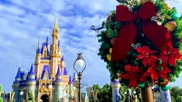 Photos: Christmas Decorations go up at Magic Kingdom!