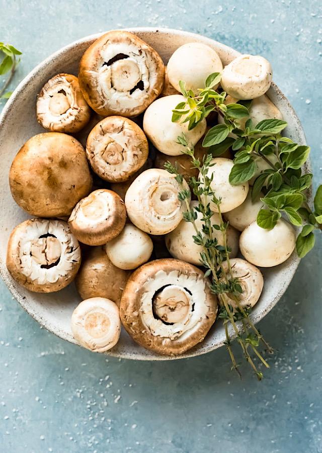 mushrooms fresh herbs recipe