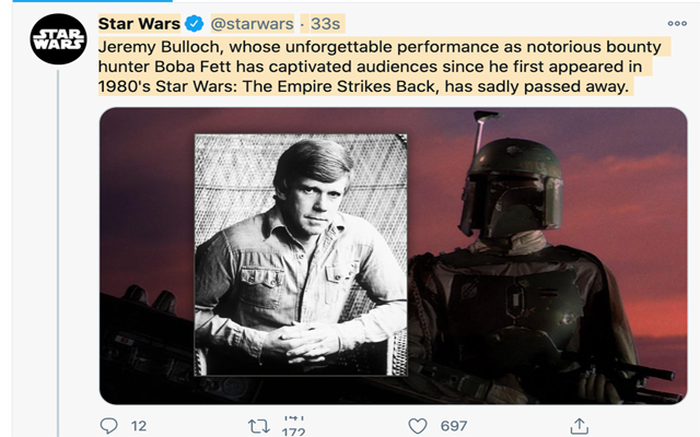 another star wars actor legend passes away