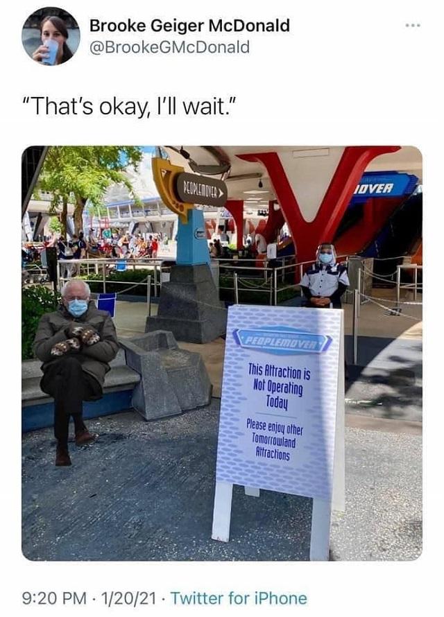 An Ode To Bernie Sanders Inauguration Disney Inspired Memes Kennythepirate Com