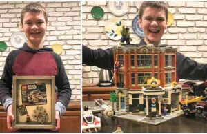12 Year Old Sets New World Record for Assembling LEGO Millennium Falcon!