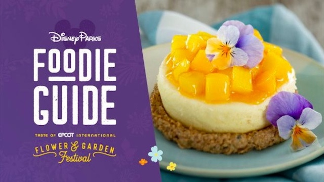 All the amazing food coming to Epcot's International Flower and Garden Festival!