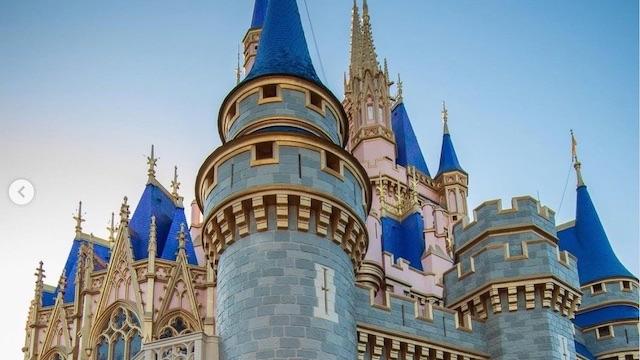 New Photos! Disney Installs 50th Anniversary Decor on Cinderella Castle