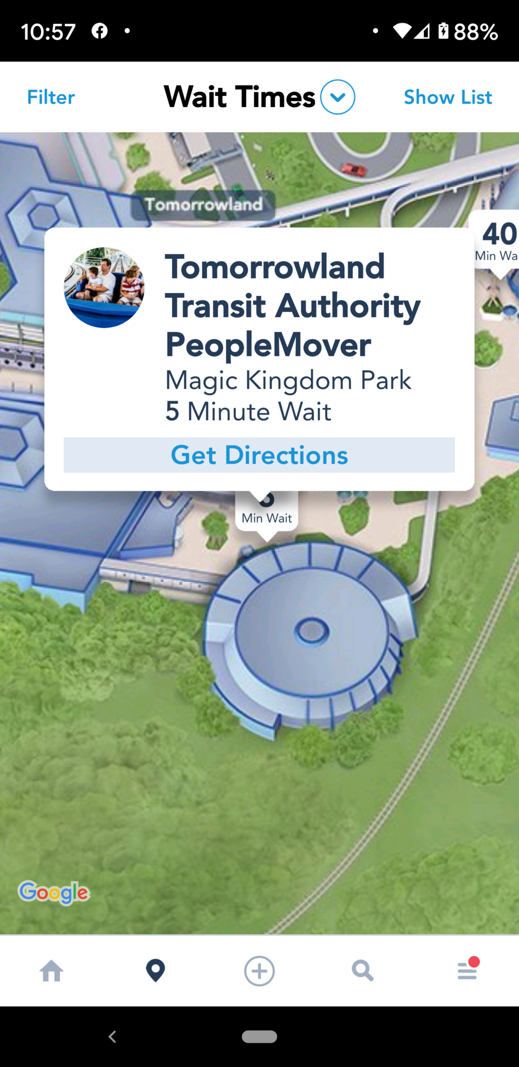 Peoplemover wait time