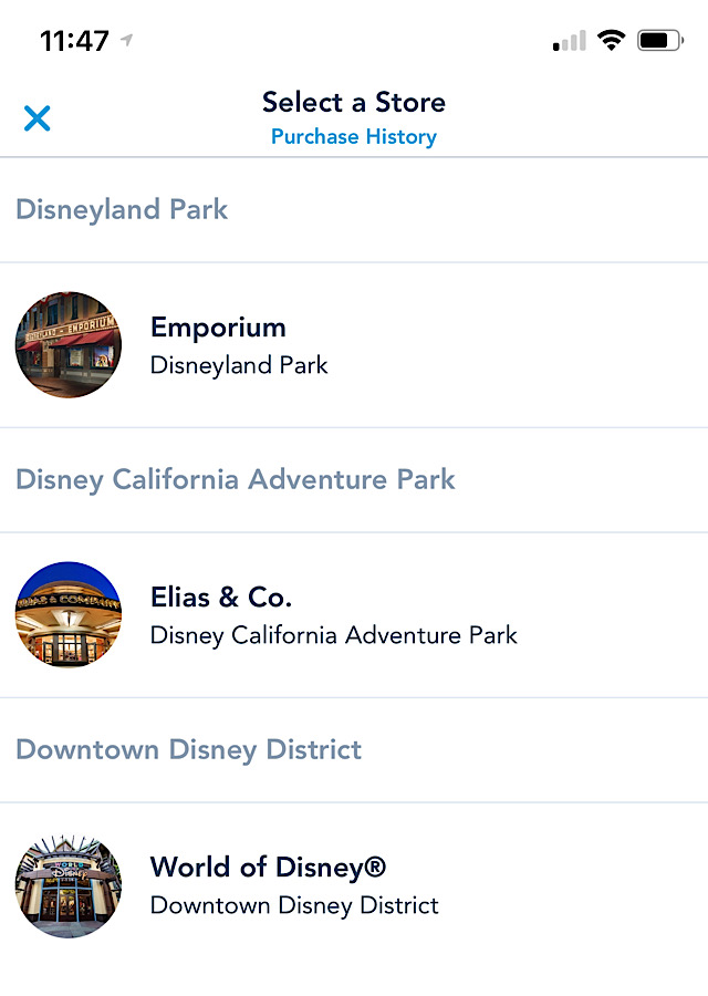 Disney Parks Mobile Checkout in just added in new Locations