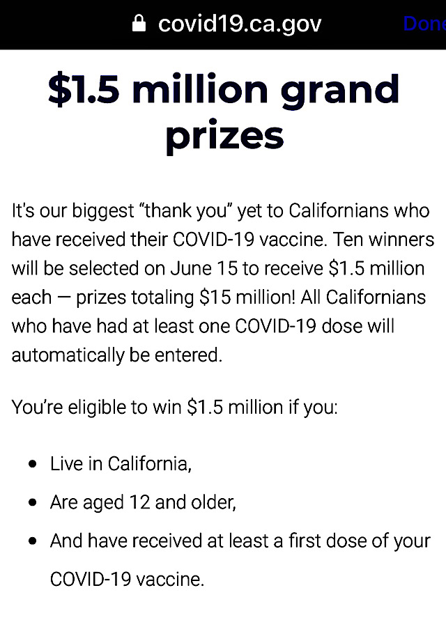 California Announces New Sweepstakes but There's a Catch