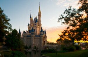 New Three Feet Distancing Markers are Seen at Walt Disney World