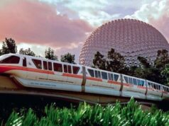 Disney World Monorails get a special 50th anniversary nighttime enhancement