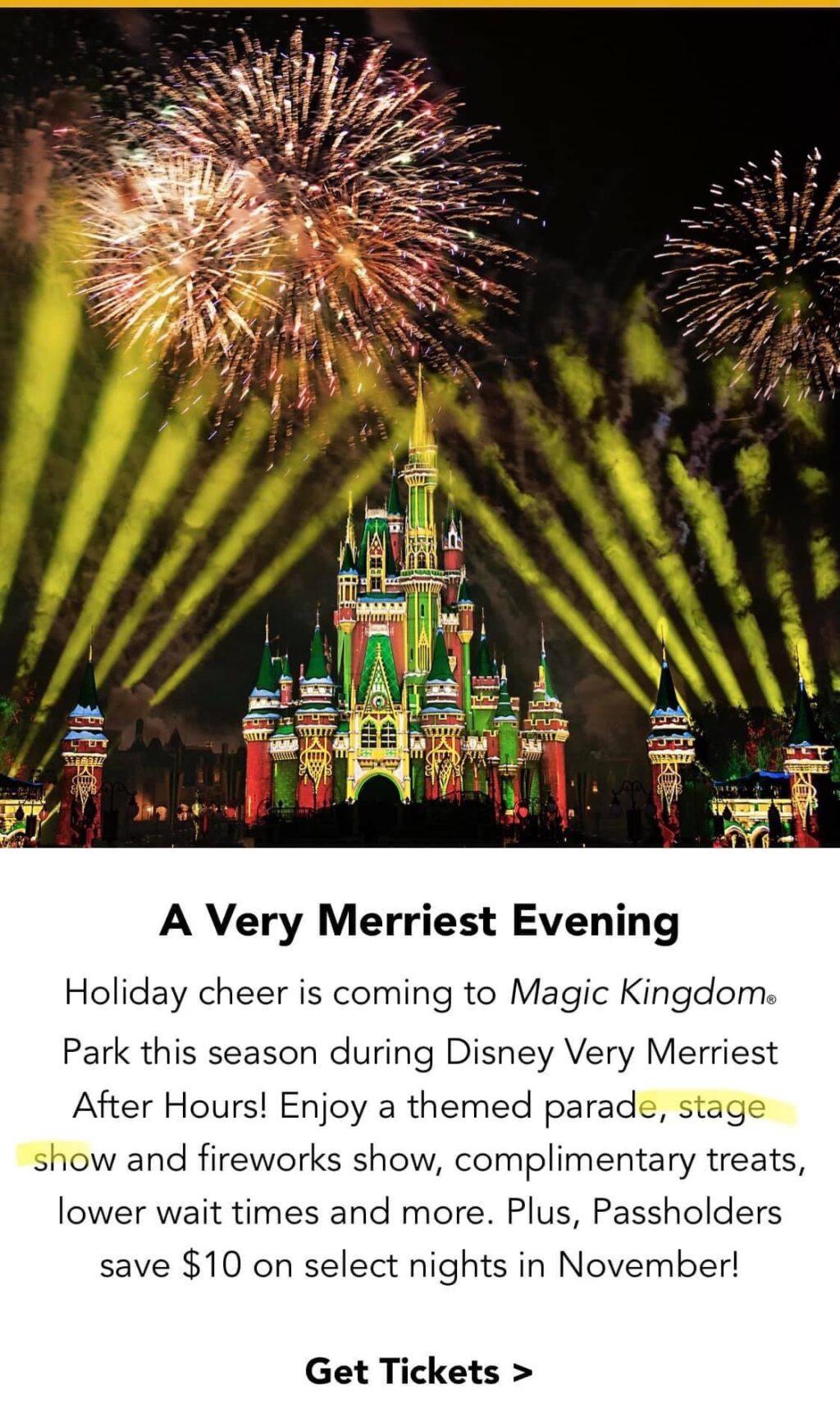 Screenshot: Disney Email