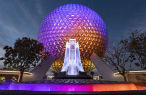 Now you can celebrate the holidays with an overlay on this Epcot Ride!